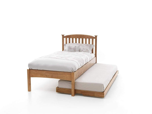 Serene Guest Bed Single 90cm 3ft Eleanor Wood Guest Bed - Oak - Low Foot End