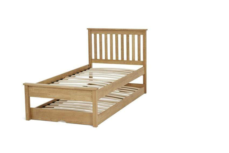 Serene Guest Bed Single 90cm 3ft Heather Wood Guest Bed - Oak