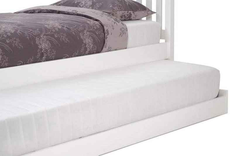 Serene Guest Bed Single 90cm 3ft Heather Wood Guest Bed - White