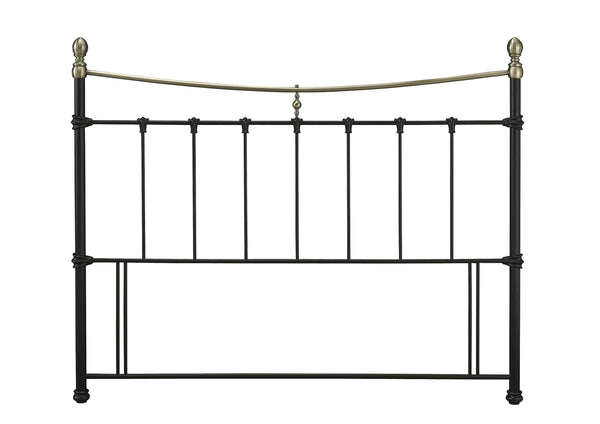 Serene Headboard Edwardian Ii  Metal Headboard - Black