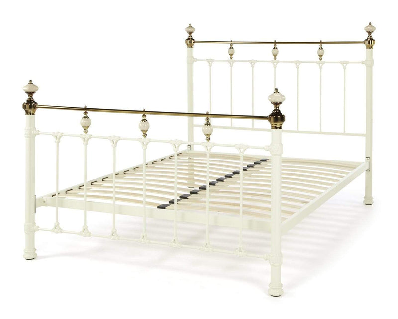 Serene Metal Bed Abigail  Metal Bed - Ivory