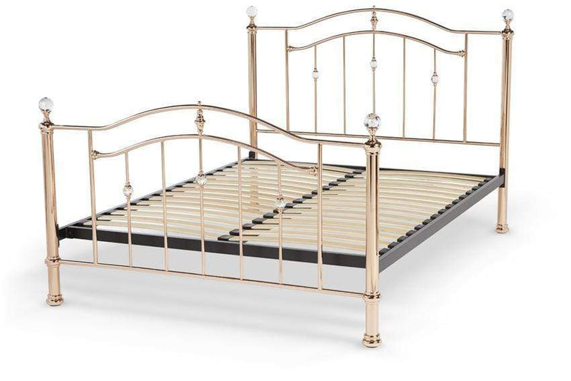 Serene Metal Bed Ashley  Metal Precious Metal Bed - Rose Gold