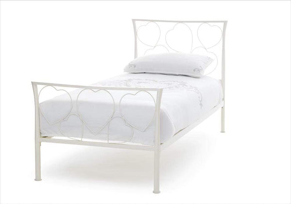 Serene Metal Bed Chloe  Metal Bed - Ivory