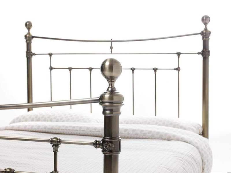 Serene Metal Bed Edmond  Metal Bed - Brass