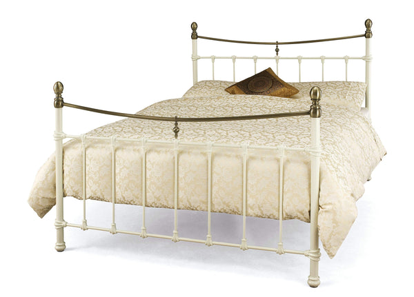 Serene Metal Bed Edwardian Ii  Metal Bed - Ivory