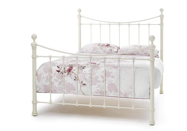 Serene Metal Bed Ethan  Metal Bed - Ivory
