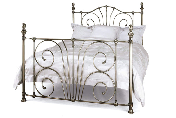 Serene Metal Bed Jessica  Metal Bed - Nickel