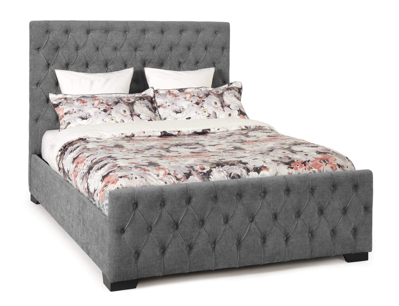 Serene Ottoman Bed Lillian  Fabric Upholstered Ottoman Bed - Steel