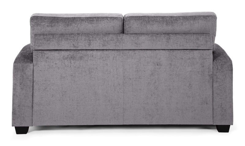 Serene Sofa Bed Small Double 120cm 4ft Lauren  Fabric Upholstered Sofa Bed - Steel