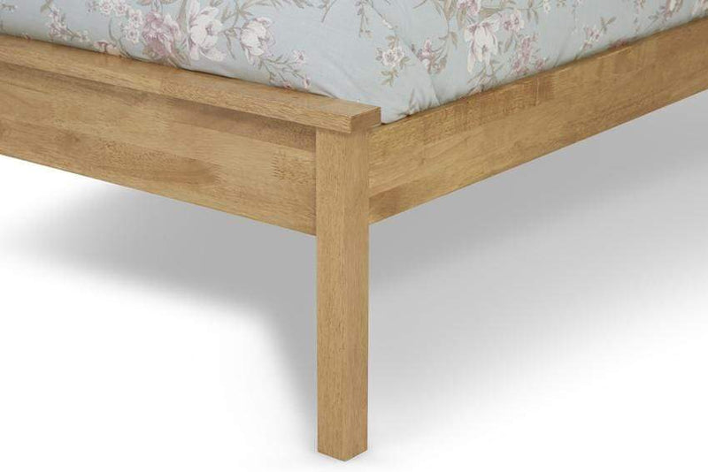Serene Wood Bed Heather  Wood Hevea Bed - Oak
