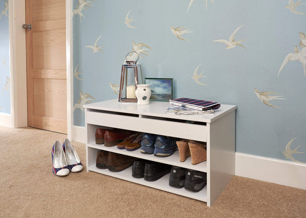 GFW Shoe Cabinet Budget Shoe Cabinet  White Bed Kings