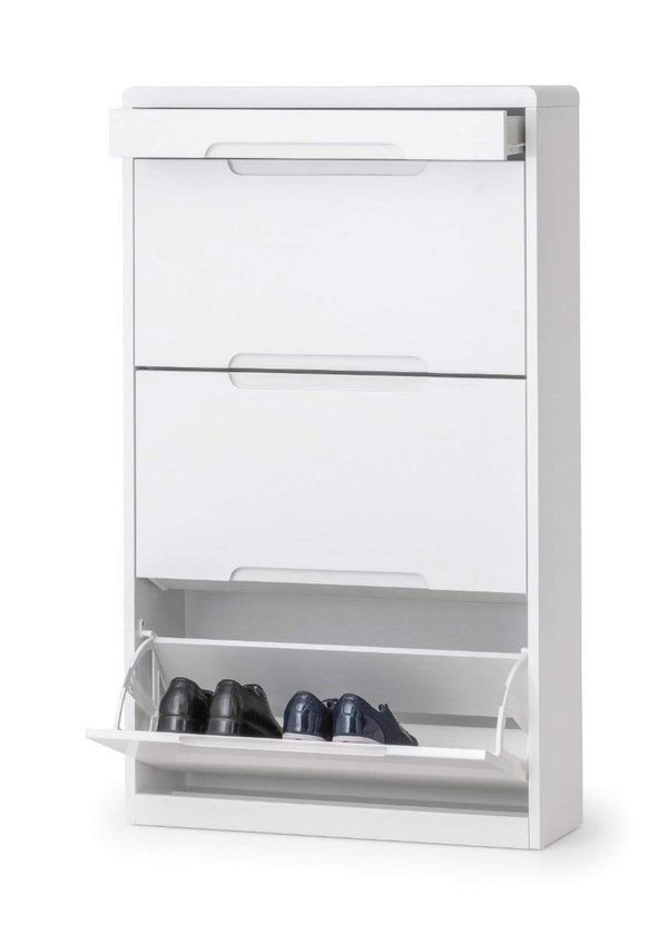Julian Bowen Shoe Cabinet Manhattan Shoe Cabinet With Drawer Bed Kings