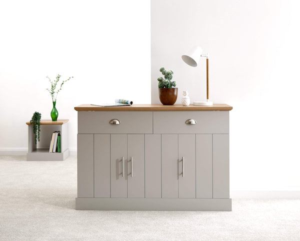 GFW Sideboard Kendal Large Sideboard Grey Bed Kings