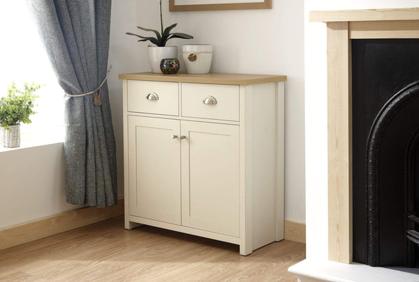 GFW Sideboard Lancaster Compact Sideboard Cream Bed Kings