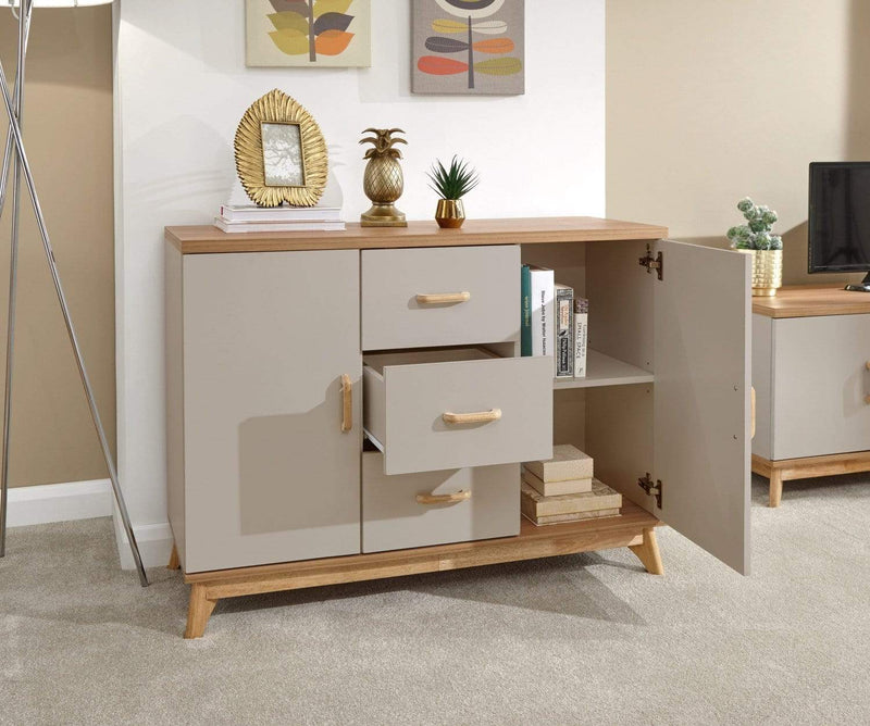 Nordica Large Sideboard Oak/Light Grey