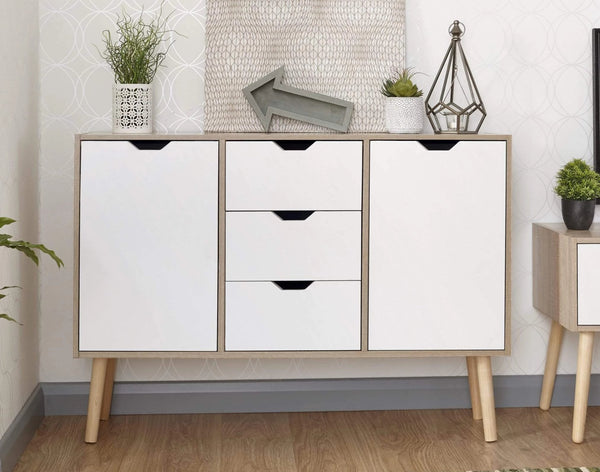 GFW Sideboard Stockholm Sideboard White Oak Bed Kings