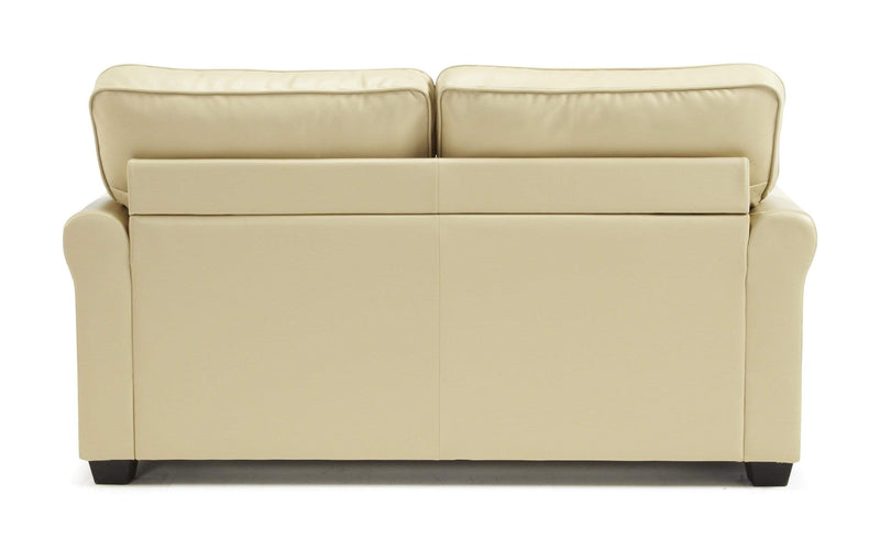 Serene Sofa Bed Small Double 120cm 4ft Naples  Leather Sofa Bed - Cream Bed Kings