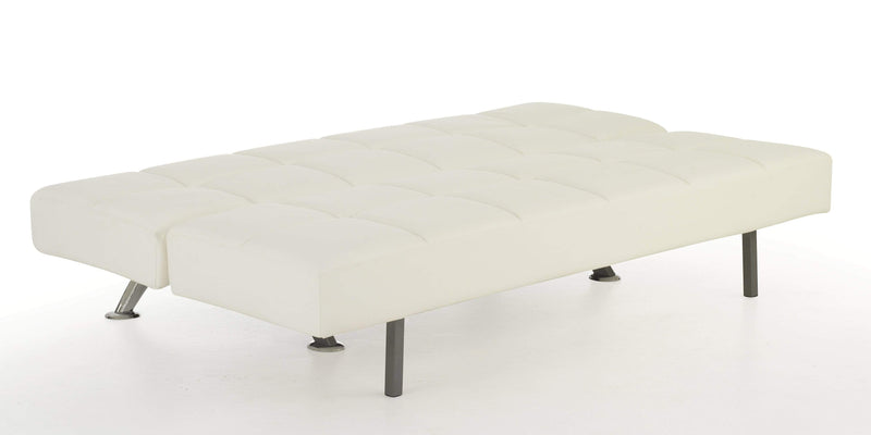 Serene Sofa Bed Small Double 120cm 4ft Venice  Leather Sofa Bed - White Bed Kings