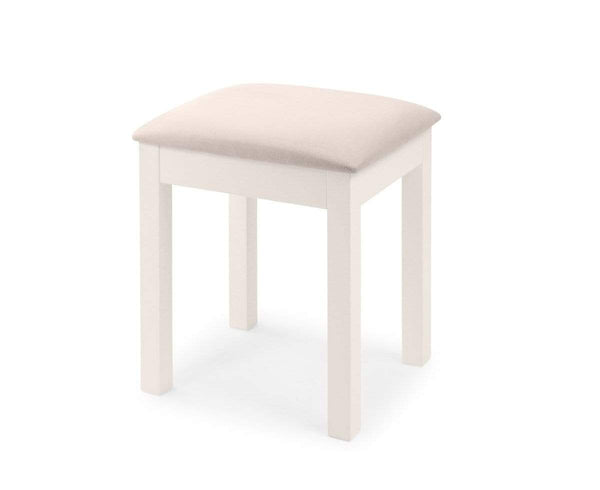 Julian Bowen Stools Maine Dressing Stool - Surf White Bed Kings