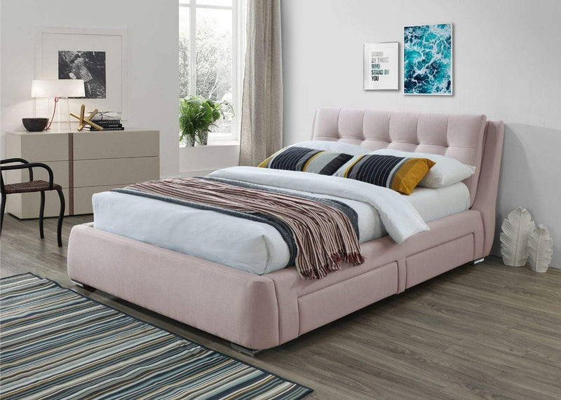 Artisan Bed Company Storage Bed Pink Fabric 4 Drawer Storage Bed - Artisan 3090 Bed Kings