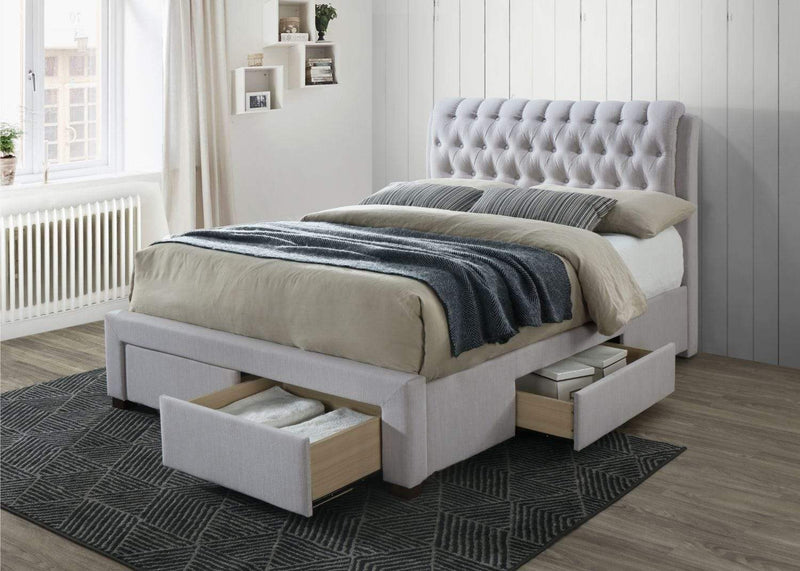 Artisan Bed Company Storage Bed Stone 4 Drawer Fabric Storage Bed (Front & Side) - Artisan 3013 Bed Kings