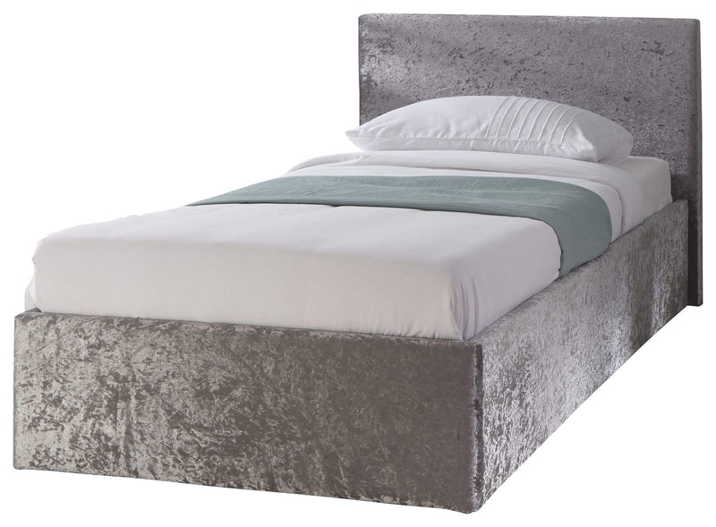 GFW Storage Bed Side Lift Ottoman Crushed Velvet Bed Kings