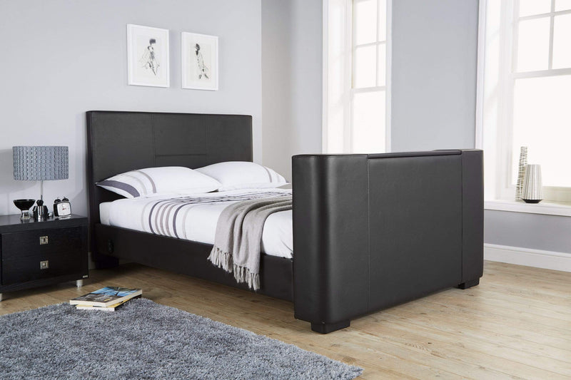 GFW TV Bed Newark Electric Tv Bed Black Bed Kings