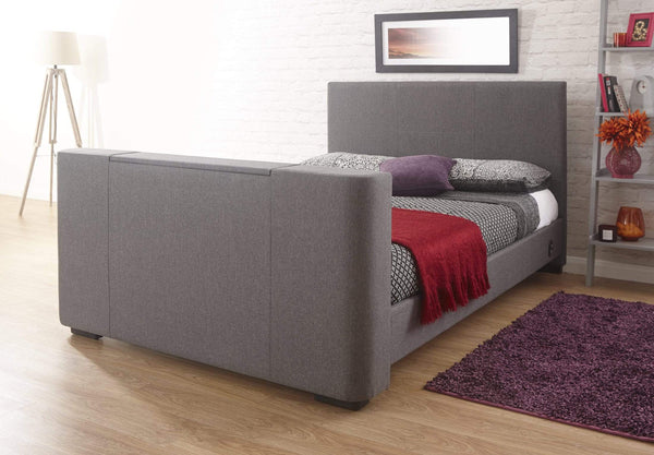 GFW TV Bed Newark Electric Tv Bed Grey Bed Kings