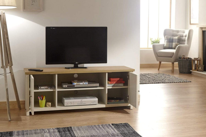 Lancaster Large TV Cabinet Cream