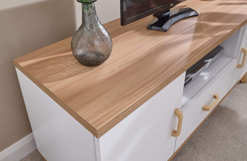 Nordica Large TV Unit Oak/White