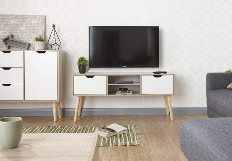 Stockholm TV Cabinet White Oak