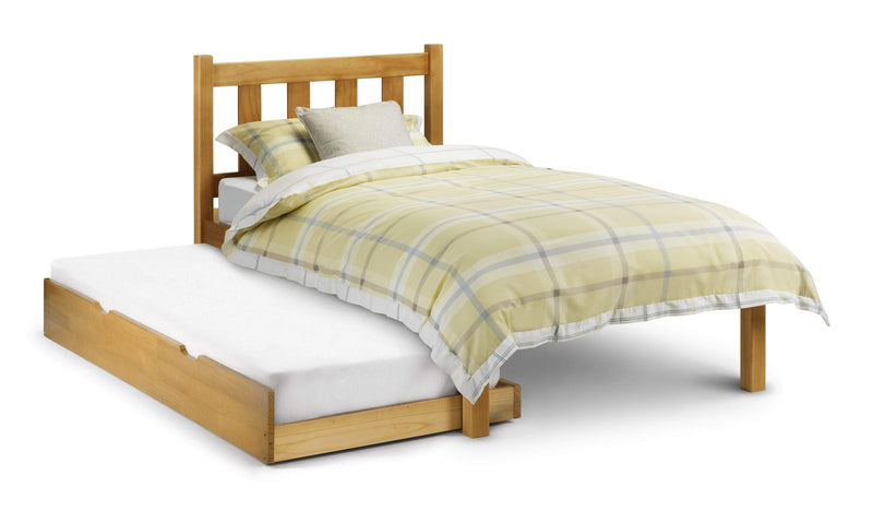 Julian Bowen UNDERBED Single 90cm 3ft Poppy Stopover Underbed - Solid Pine - Pine Bed Kings