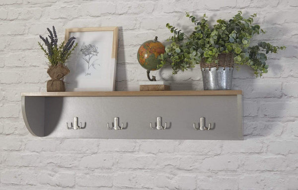 GFW Wall Rack Lancaster Wall Rack Grey Bed Kings