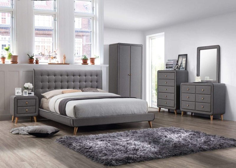 Artisan Bed Company Wardrobe Stockholm Grey Fabric Wardrobe Bed Kings