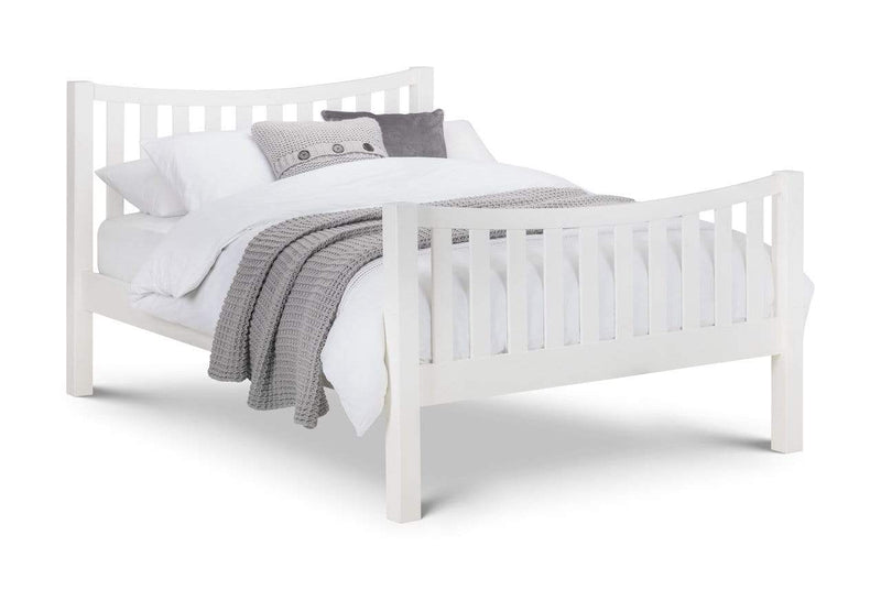 Julian Bowen Wood Bed King 150cm 5ft Madison Curved Bed In Surf White King - Wooden Beds - Surf White Bed Kings