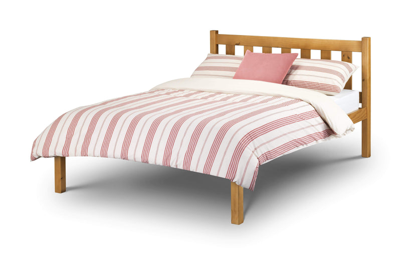 Julian Bowen Wood Bed Poppy Bed - Solid Pine - Pine Bed Kings