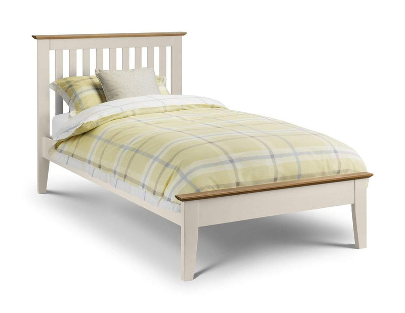 Julian Bowen Wood Bed Salerno Shaker Bed Two Tone - Wood - Ivory / Natural Oak Bed Kings