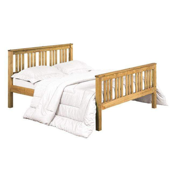 LPD Wood Bed Single 90cm 3ft Shaker Bed Frame Bed Kings