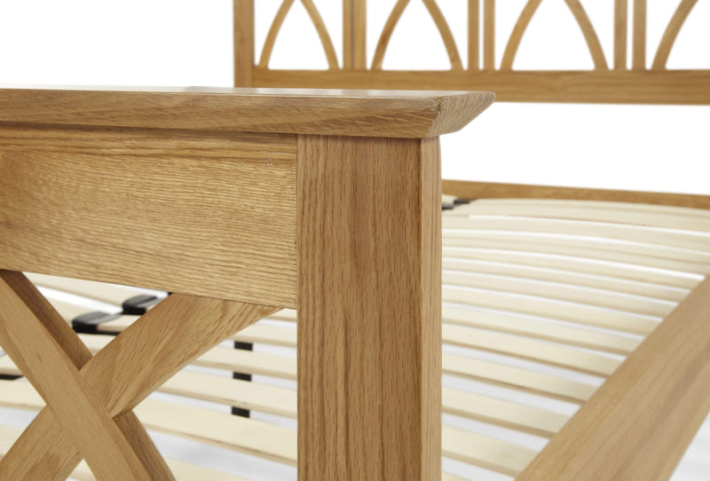 Serene Wood Bed Maiden  Wood Bed - Oak Bed Kings