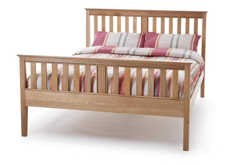Serene Wood Bed Salisbury  Wood Bed - Oak - High Foot End Bed Kings
