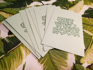 "Snotty Green ""Get Well Soon"" Cards"