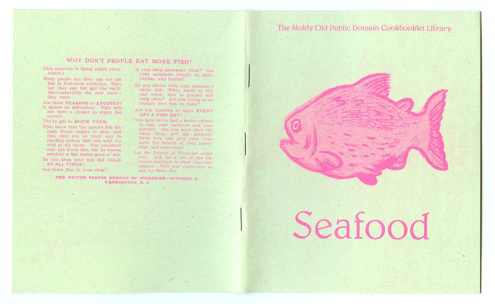 seafood cookbook zine