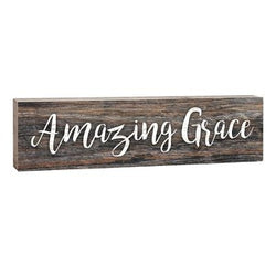 Amazing Grace Stick Plaque - Small