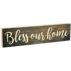 Bless Our Home Stick Plaque - Small