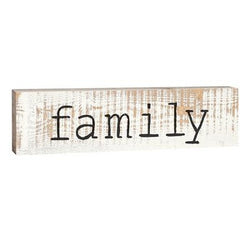 Family Stick Plaque - Small