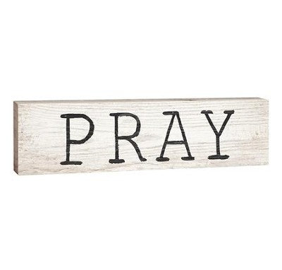 Pray Stick Plaque - Small