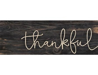 Thankful Stick Plaque - Small