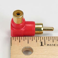 RCA Male/Female Right Angle Adapter Size