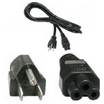 1Ft Notebook Power Cord 3 Prongs NEMA5-15P/IEC320 C5 18AWG - EWAAY.COM