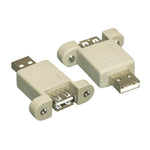 USB 2.0 Panel Mount Gender Changer Type A Male to A Female